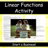 Modeling With Linear Functions: Start a Business
