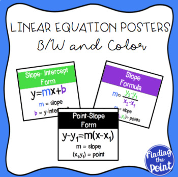 Linear Equation Posters