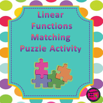 Linear Function Puzzle Activity - distance learning