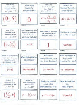 Linear Function Scavenger Hunt-1-Skills-16 to a page