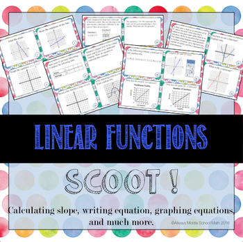 Linear Function SCOOT!: Tasks that include slope and MUCH more!