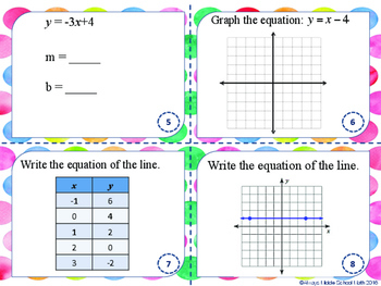 Linear Function SCOOT!: Task cards that include slope and MUCH more