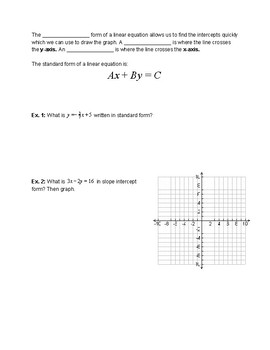 Linear Function Test Review