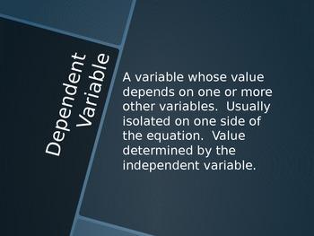Linear Function Vocabulary Presentation