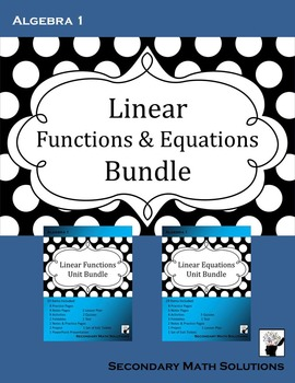 Linear Functions & Equations Bundle