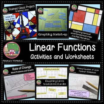 Linear Functions Activities and Worksheets