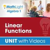 Linear Functions   Algebra 1 Unit with Videos   Good for D