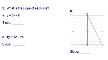 Linear Functions Basics (Pre-Assessment, Extra Practice, Assessment Problems)