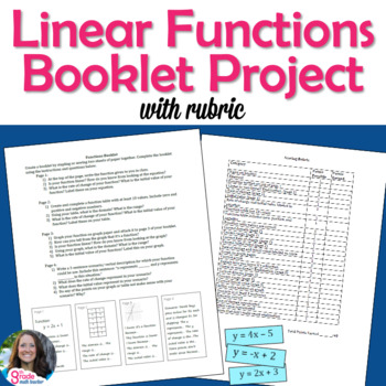 Linear Functions Booklet Project (with Rubric)