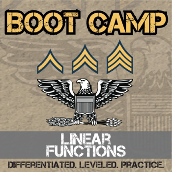 Linear Functions Boot Camp -- Differentiated Practice Assignments