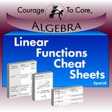 Linear Functions Cheat Sheet Freebie