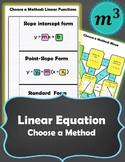 Linear Functions: Choose a Method