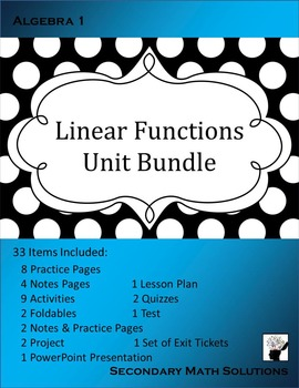 Linear Functions (Complete Unit Bundle)