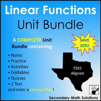 Linear Functions & Equations (Complete Unit Bundle)
