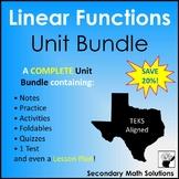 Linear Functions Unit Bundle (A3A, A3B, A3C, A3E, A2B, A2C, A2D, A2E, A2F, A2G)