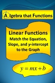 Linear Functions Match the Equation, Slope, and y-intercept to the Graph