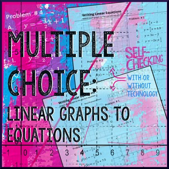 Linear Functions: Graph to Equation Multiple Choice by Algebra ...