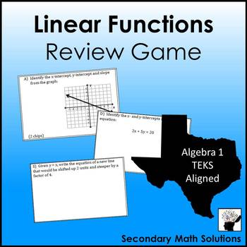 Linear Functions, Graphing Lines, Finding Slope, Writing Equations Review Game