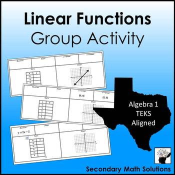 Linear Functions Group Activity (A3C)