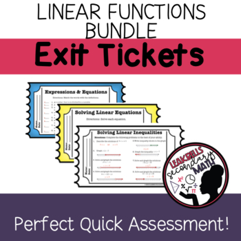 Linear Functions Growing Bundle Exit Tickets
