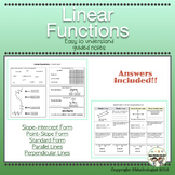 Linear Functions Guided Notes