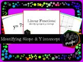 Identifying Slope and Y-intercept in Linear Functions (Tas