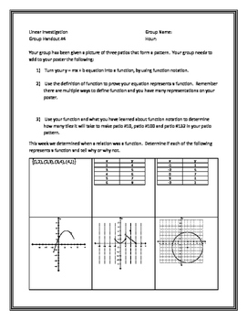 Linear Functions Investigation - Group Project - Multiple Representations