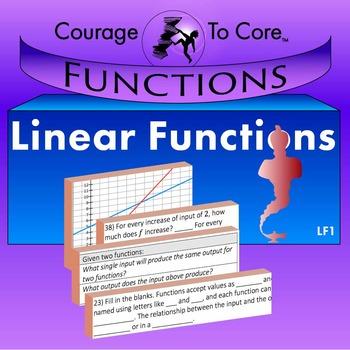 Linear Functions (LF1): 8.FA.1, 8.FA.2, 8.FA.3, HSF.BF.A.1.A...