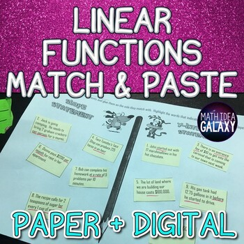 Linear Functions Match and Paste