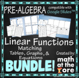 Linear Functions Matching BUNDLE - Graphs, Tables, & Equations - GOOGLE Slides