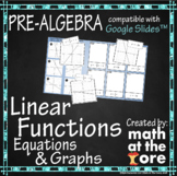 Linear Functions - Matching Graphs & Equations - GOOGLE Slides