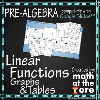 Linear Functions - Matching Graphs & Tables - GOOGLE Slides
