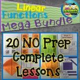Linear Functions Mega Bundle: No Prep Foldable Lessons