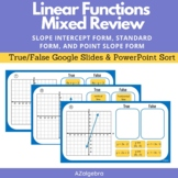 Linear Functions Mixed Review - Analyzing Linear Functions
