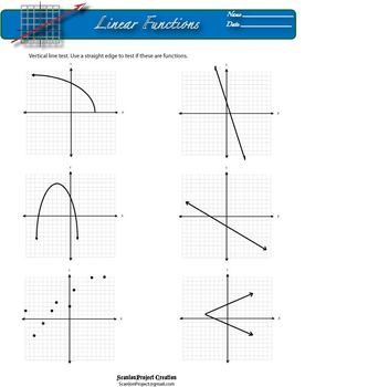 Linear Functions Packet