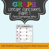 Linear Functions (Part 1) Find Someone Who Activity