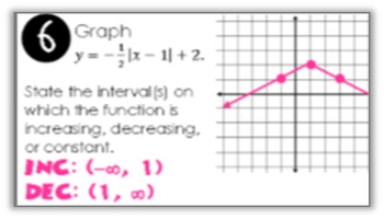Linear Functions (Part 2) Find Someone Who Activity