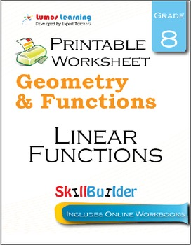 Linear Functions Printable Worksheet, Grade 8