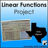 Linear Functions Project (8.5B, 8.5I, A2A, A2C, A3C)