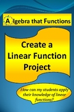 End of Year Linear Functions Real-World Application Math Project