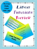 Linear Functions Review (8.F.2 & 8.F.3)