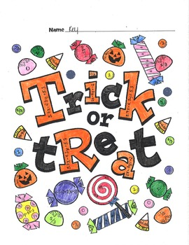 Linear Functions Review - Color by numbers - Halloween