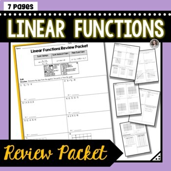 Linear Functions Review Packet