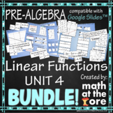 Linear Functions - Unit 4 - BUNDLE - GOOGLE Slides