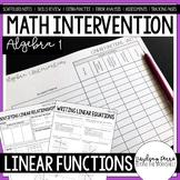 Linear Functions Unit Algebra 1 Intervention Program