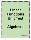 Linear Functions Unit Test