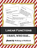 Linear Functions Vocabulary Game Activity : I have, who has