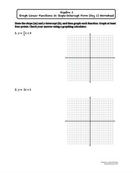 Linear Functions (Graphing) Worksheet Bundle