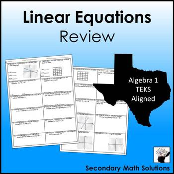 Linear Equations Review