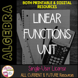 Linear Functions and Equations Unit Membership
